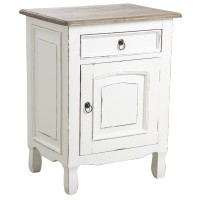Table de chevet en bois blanc