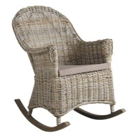 Rocking-chair en poelet gris