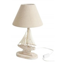 lampe de chevet en bois bateau d co marin bord de mer boisnature 39 l. Black Bedroom Furniture Sets. Home Design Ideas