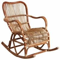 Rocking chair en rotin brut