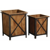 pot de fleur cache pot pour plante d 39 int rieur en bois osier rotin boisnature 39 l. Black Bedroom Furniture Sets. Home Design Ideas