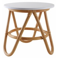 Table ronde enfant en rotin Ø 35 cm