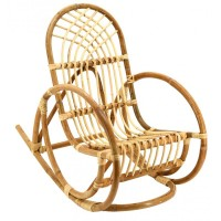 Rocking chair enfant en rotin naturel