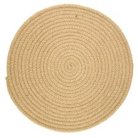 Lot de 6 set de table ronds en jute naturelle