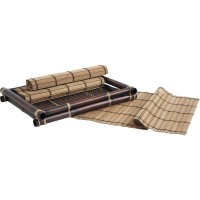 Plateau en bambou + 4 sets de table en bambou
